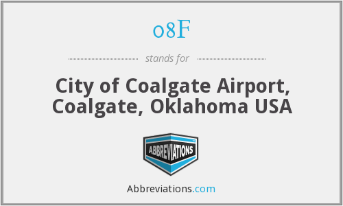 08F - City of Coalgate Airport, Coalgate, Oklahoma USA