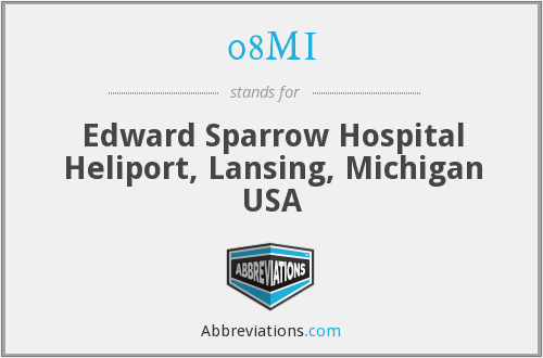 08MI - Edward Sparrow Hospital Heliport, Lansing, Michigan USA