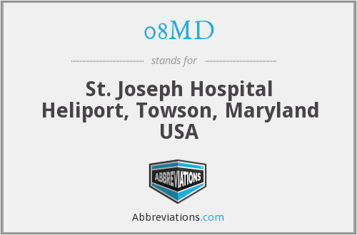 08MD - St. Joseph Hospital Heliport, Towson, Maryland USA