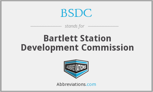 BSDC - Bartlett Station Development Commission