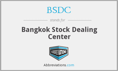BSDC - Bangkok Stock Dealing Center