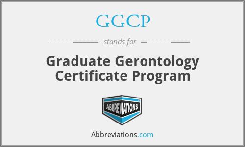 GGCP - Graduate Gerontology Certificate Program