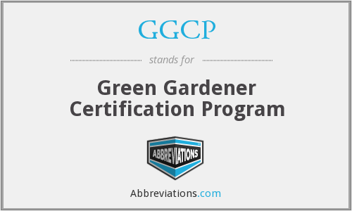 GGCP - Green Gardener Certification Program
