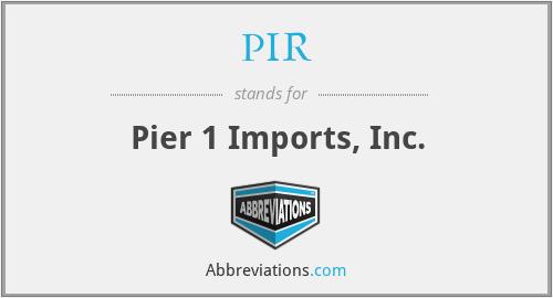 PIR - Pier 1 Imports, Inc.