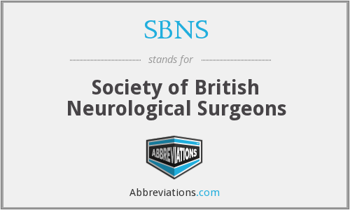 SBNS - Society of British Neurological Surgeons