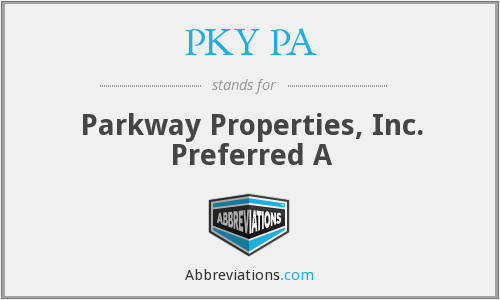PKY PA - Parkway Properties, Inc. Preferred A