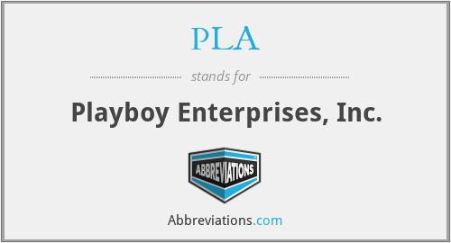 PLA - Playboy Enterprises, Inc.