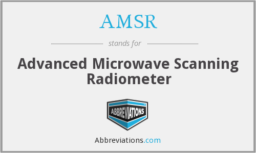 AMSR - Advanced Microwave Scanning Radiometer
