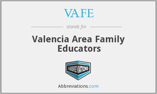 VAFE - Valencia Area Family Educators