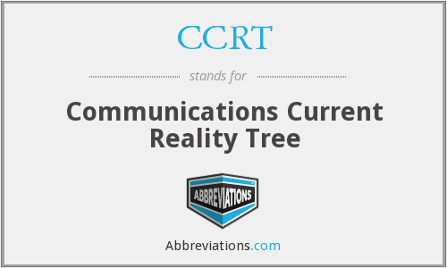 CCRT - Communications Current Reality Tree