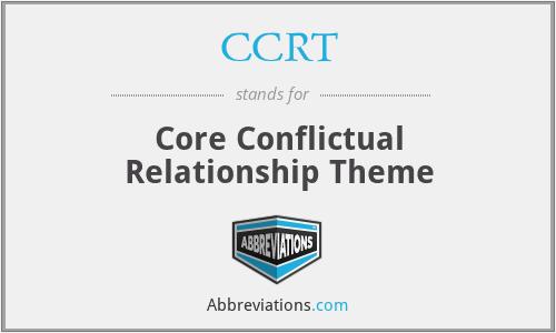 CCRT - Core Conflictual Relationship Theme
