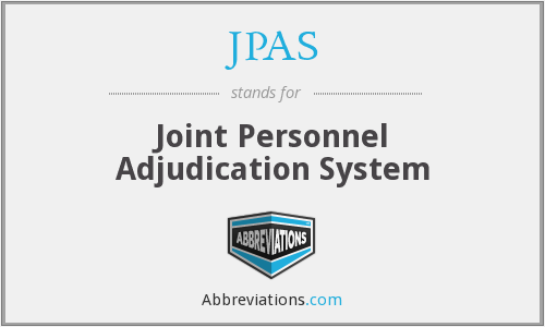 What does JPAS stand for?
