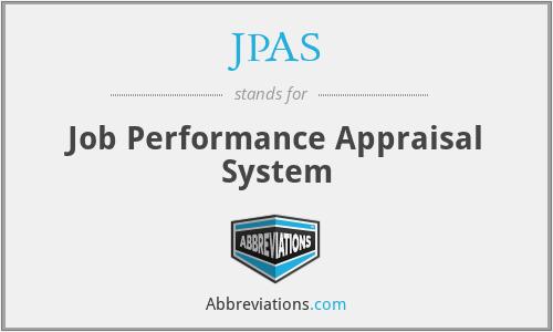 JPAS - Job Performance Appraisal System