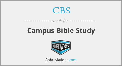 CBS - Campus Bible Study