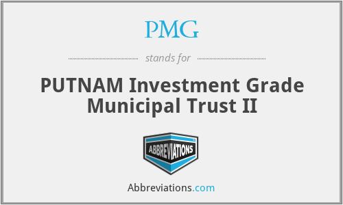 PMG - PUTNAM Investment Grade Municipal Trust II