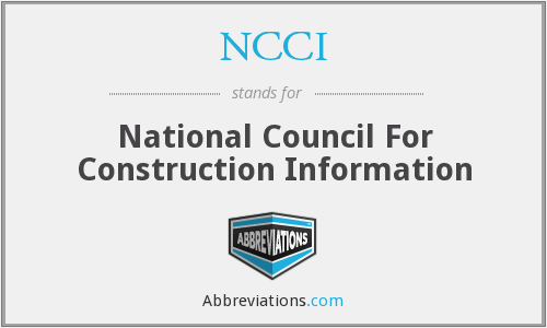 NCCI - National Council For Construction Information