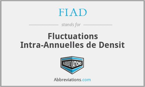 FIAD - Fluctuations Intra-Annuelles de Densit