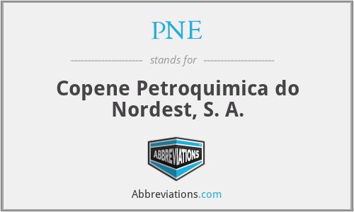 PNE - Copene Petroquimica do Nordest, S. A.