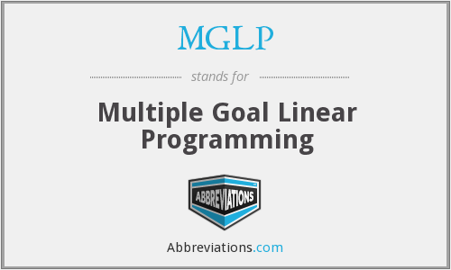 MGLP - Multiple Goal Linear Programming