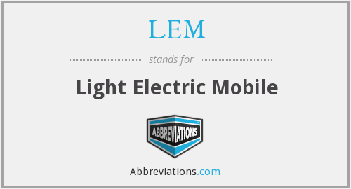 LEM - Light Electric Mobile