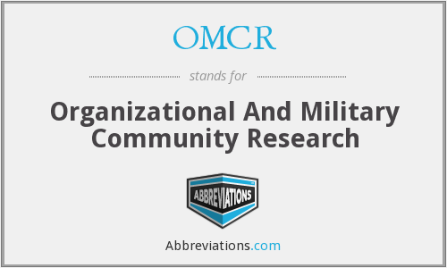 OMCR - Organizational And Military Community Research