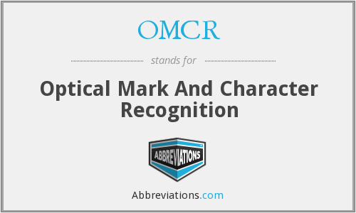 OMCR - Optical Mark And Character Recognition