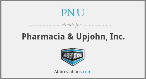 PNU - Pharmacia & Upjohn, Inc.