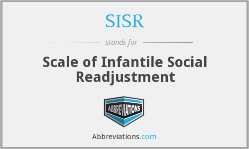 SISR - Scale of Infantile Social Readjustment