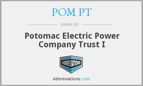 POM PT - Potomac Electric Power Company Trust I