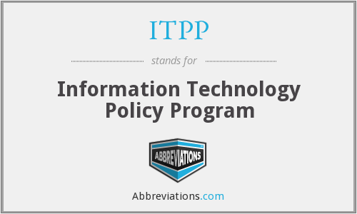 ITPP - Information Technology Policy Program