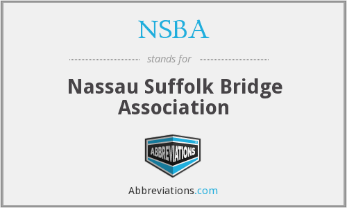 What does NSBA stand for?