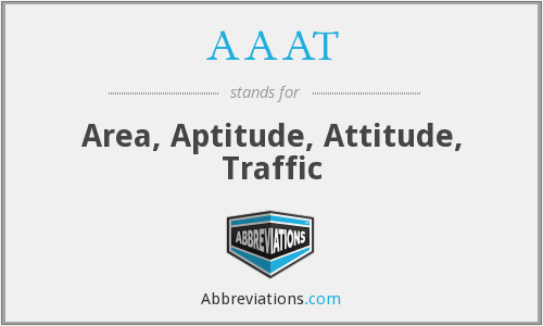 AAAT - Area, Aptitude, Attitude, Traffic