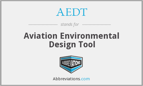 AEDT - Aviation Environmental Design Tool