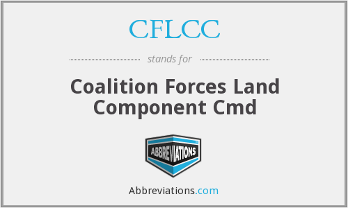 CFLCC - Coalition Forces Land Component Cmd