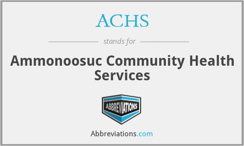 ACHS - Ammonoosuc Community Health Services