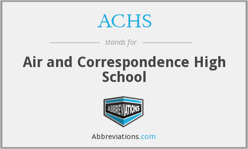 ACHS - Air and Correspondence High School