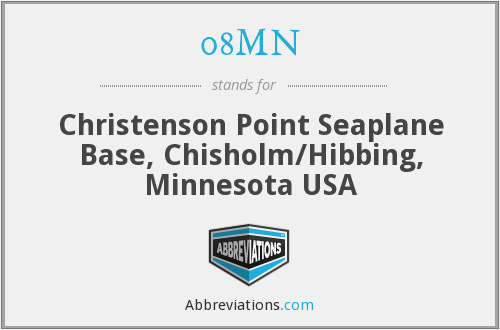08MN - Christenson Point Seaplane Base, Chisholm/Hibbing, Minnesota USA