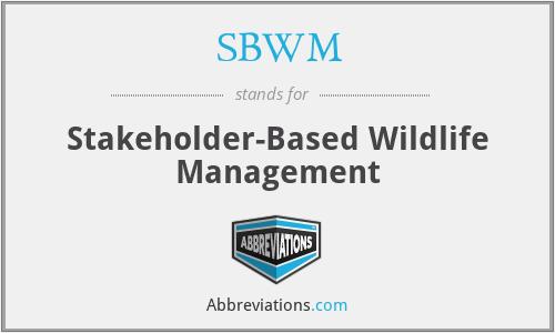 SBWM - Stakeholder-Based Wildlife Management