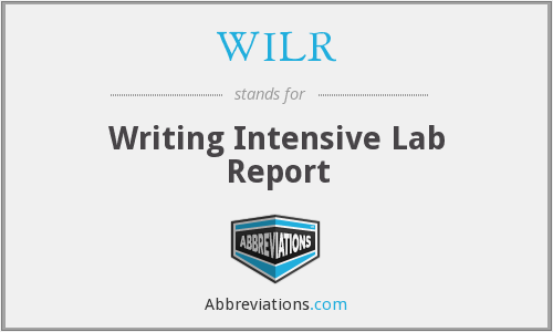 WILR - Writing Intensive Lab Report