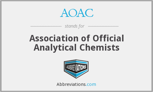 AOAC - Association of Official Analytical Chemists