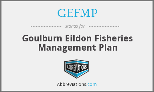 GEFMP - Goulburn Eildon Fisheries Management Plan
