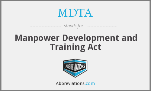 What does MDTA stand for?