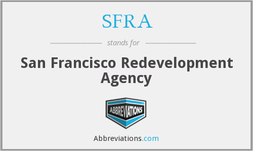 What does SFRA stand for?