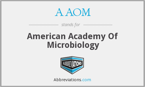 AAOM - American Academy Of Microbiology