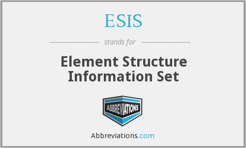 ESIS - Element Structure Information Set