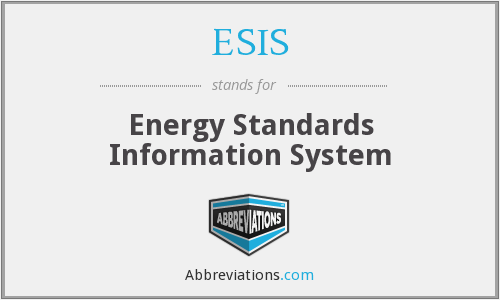 ESIS - Energy Standards Information System