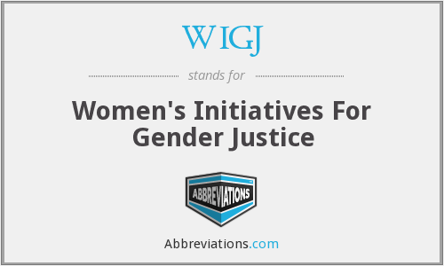 WIGJ - Women's Initiatives For Gender Justice