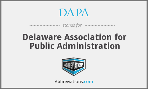 DAPA - Delaware Association for Public Administration