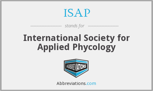ISAP - International Society for Applied Phycology