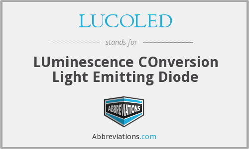 LUCOLED - LUminescence COnversion Light Emitting Diode